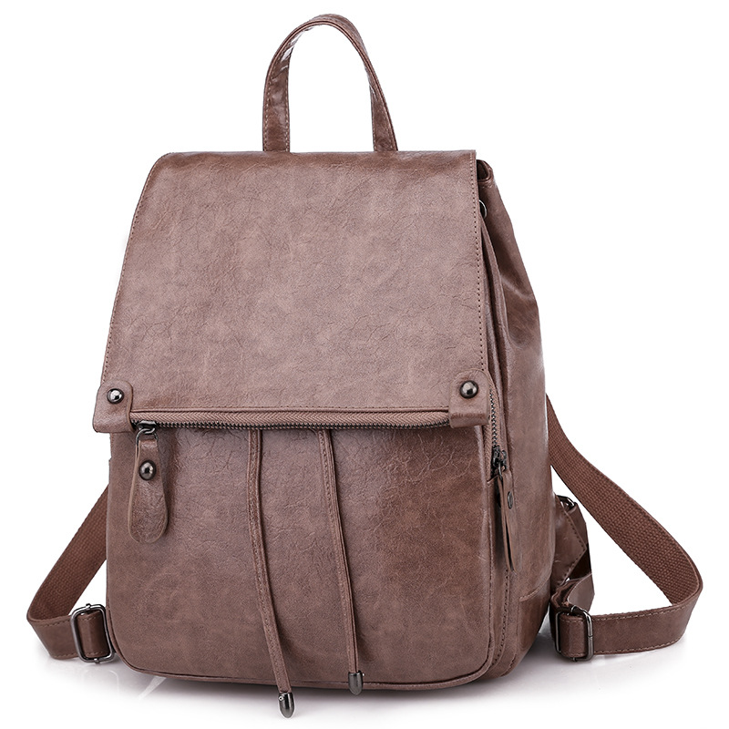 BELLELIFE Vintage Soild Color Backpack for Women Casual Waterproof Backpacks Female Leather Travel Bags Lady Luxury mochila