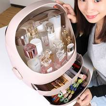 Womens jewelry Cosmetic Storage Box Transparent Acrylic Flip Drawer Bathroom Accessories