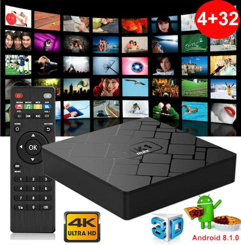 HK1MAX 4+32/64G Android 8.1.0 Pie Quad Core 4K Smart TV BOX Media Player MINI PC