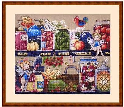 HH MM Gold Collection Counted Cross Stitch Kit Cross stitch RS cotton with cross stitch <font><b>Merejka</b></font> K-73 image