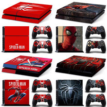 Marvel Spider Man Spiderman PS4 Skin Sticker Decal For PlayStation 4 Console and 2 Controllers PS4 Skin Sticker Vinyl skins(China)