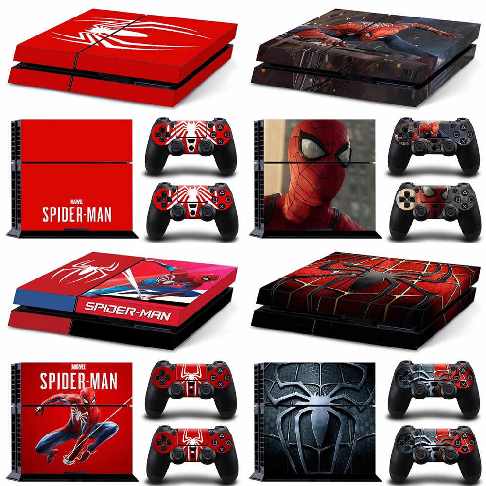 Marvel Spider Man Spiderman PS4 Skin Sticker Decal For PlayStation 4 Console and 2 Controllers PS4 Skin Sticker Vinyl skins