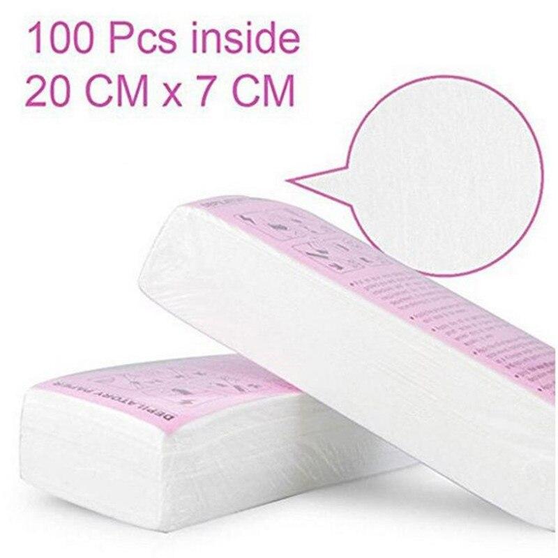 100 peças mulheres homens depilação cera de papel não tecido de alta qualidade corpo perna braço depilação depilador tira de cera rolo de papel 20 #4