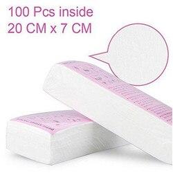 100pcs Women Men Hair Removal Wax Paper Nonwoven High Quality Body Leg Arm Hair Removal Epilator Wax Strip Paper Roll 20#4