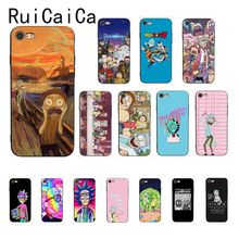 yinuoda rick and morty mr pickles rick newest super cute phone cases for iphone 8 8plus 7 7plus 6s 6splus xsmax x xs xr Ruicaica Rick And Morty Funny Cartoon Comic Meme Funny Words Phone Case for iPhone X XS MAX 6 6S 7 7plus 8 8Plus 5 5S XR
