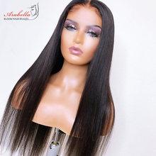 Pelo peruano recto Cierre de encaje peluca con cabello de bebé Pre arrancado Arabella 150 Remy 180 de densidad cierre 4x4 peluca pelucas de cabello humano