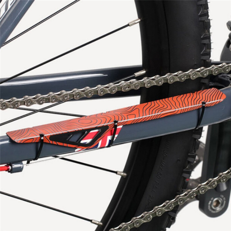 """WIDE BIKE BICYCLE FRAME CHAINSTAY CHAIN STAY PROTECTOR CLEAR 1/"""" Wide"""