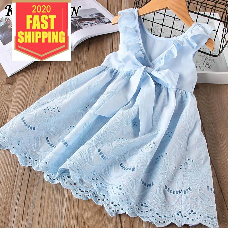 Keelorn Girl Dress Summer Cotton Children Clothing Sleeveless Toddler Princess Kids Dresses title=