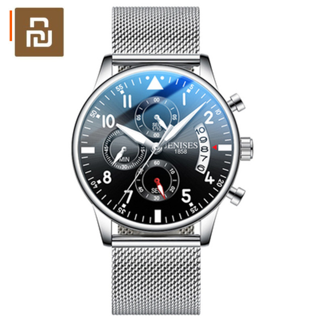 Youpin TIMEROLLS 다기능 레저 쿼츠 시계 스톱워치 방수 루미 너스 쿨 멀티 아이 시계 비즈니스 시계