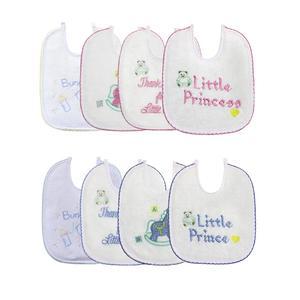 Pasgeboren Baby Slabbetjes 4 Stks/set Katoen Borduren Waterdichte Speeksel Handdoek Bandana Sjaal Zuigelingen Schort Voor Babyvoeding Accessoires