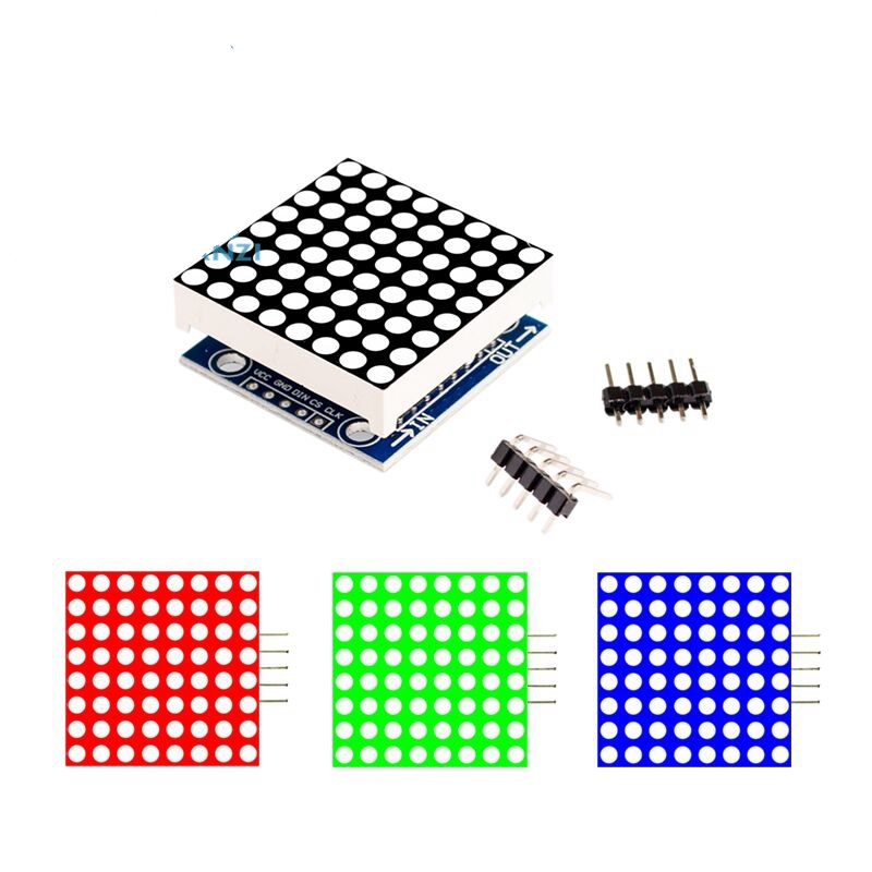 MAX7219 Dot Matrix Module Control Module Single Chip Microcomputer Control Drive LED Display Module Red/Blue/Green