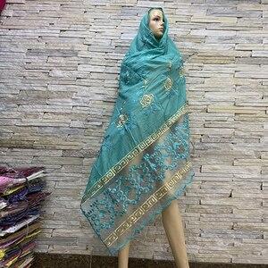 Image 3 - Foulards en coton pour femmes africaines, hijab doux, foulard pour femmes musulmanes, en vente BM819, tir réel!