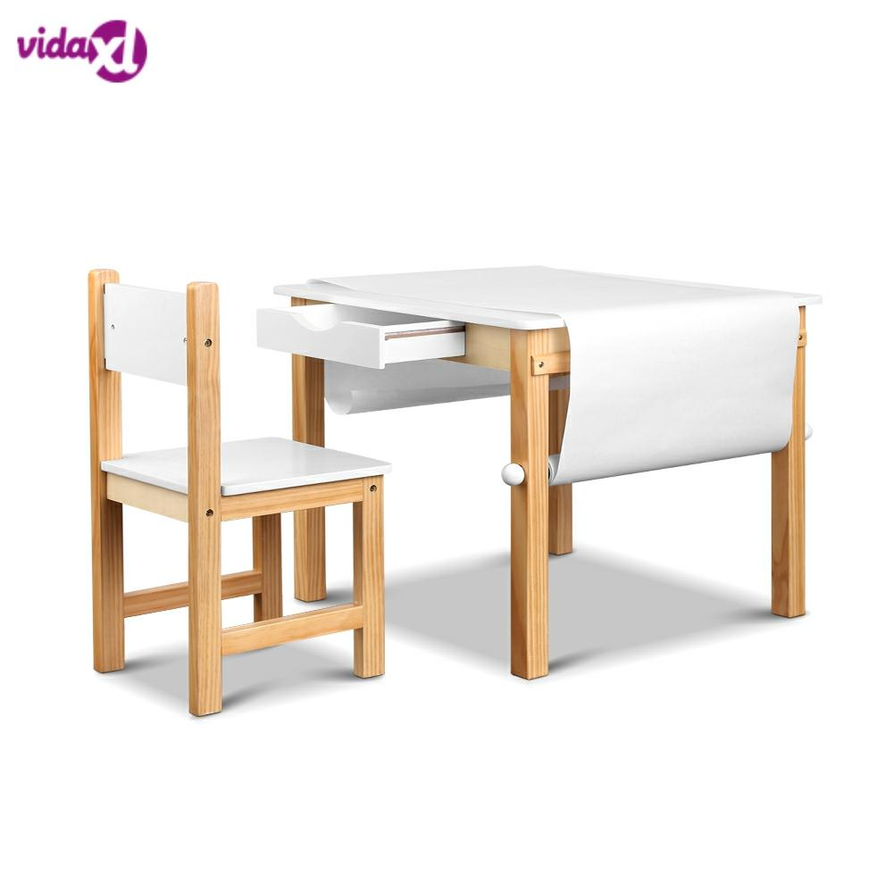 Artiss Kids Art Table And Chair Set Study Children Furniture Desk Drawer Storage For Drawing And Studying Desk Children Table A2