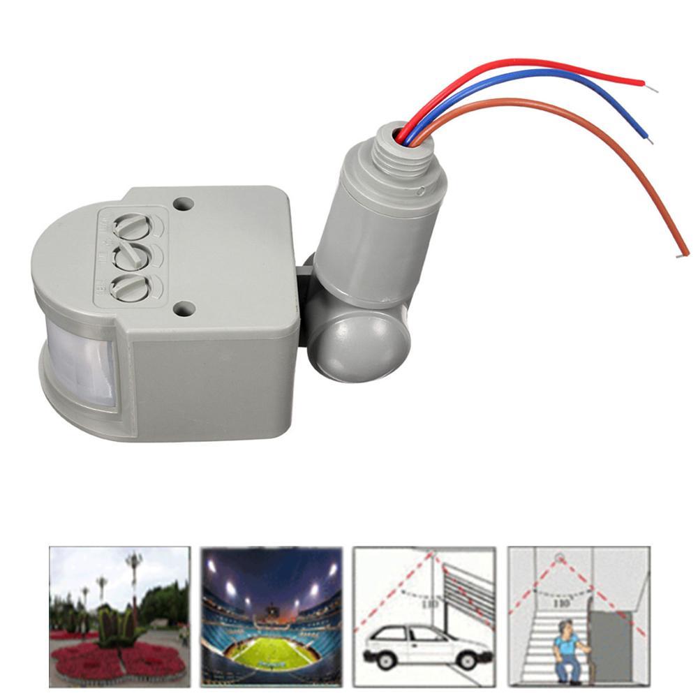 Infrared PIR Motion Smart Sensor 110V-240V 12M Sensor Detector Wall Light Switch Control 140 Degree Safety Sensor Home Security