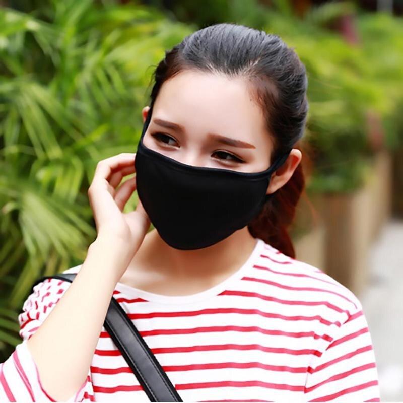 Новинка 2019, 1 шт., осенне-зимняя теплая маска с черным ртом для лица, моющаяся многоразовая корейская модная мужская защита, двойная