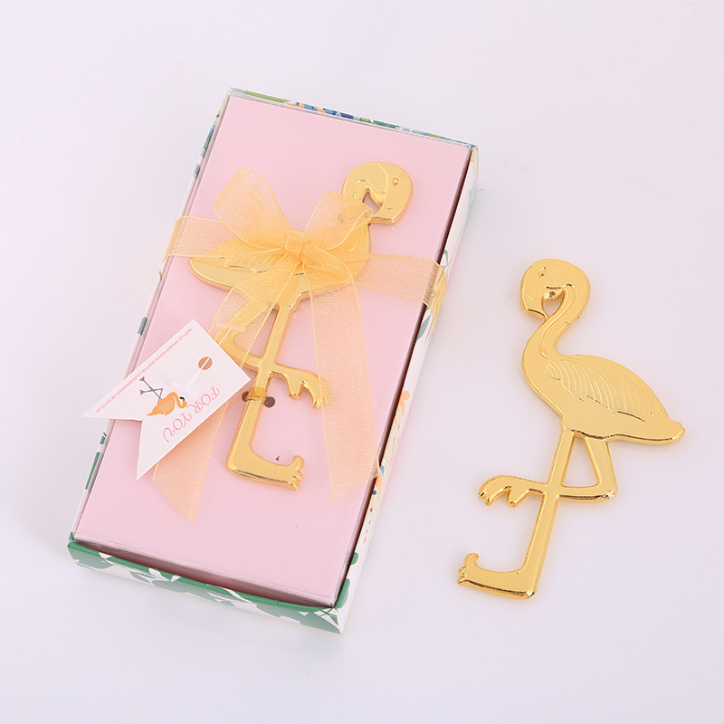 Creative Flamingo Bottle Opener Metal Manual Beer Wine Smooth Edge Personalized Favors And Gifts For Party Wedding