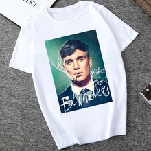 2020 Vintage Peaky Blinders T Shirt Men TV Fan T-Shirt Short Sleeve Streetwear Tommy Shelby Tee Merch Gift Birmingham Clothing(China)