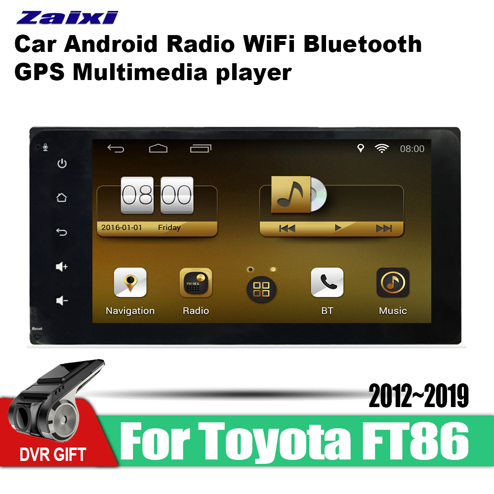 ZaiXi car gps multimedia player For <font><b>Toyota</b></font> 86 FT86 GT86 <font><b>2012</b></font>~2019 car Android navigation raido video audio player stereo audio image