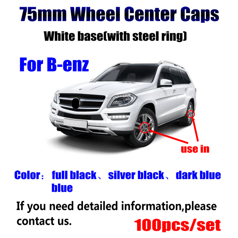 100Pcs/lot 75mm 3pin <font><b>Car</b></font> <font><b>Wheel</b></font> <font><b>Center</b></font> Hub Caps <font><b>Cover</b></font> Logo Emblem For Mercedes A B C CLA G M A1714000025 <font><b>Car</b></font> Accessories Styling image