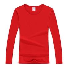봄 탑 티셔츠 코튼 보그 티셔츠 가을 긴 소매 라이크라 코튼 티셔츠 슬림 커플 티셔츠 캐주얼 솔리드 레이디 티셔츠 탑스