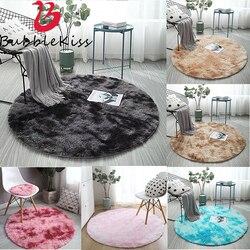 Bulle Kiss moderne chambre décor moelleux tapis rond en peluche tissu salon fausse fourrure tapis longue pile chambre d'enfants tapis