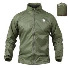 Тактическая куртка, темно-синяя печать, легкая камуфляжная куртка для мужчин, водонепроницаемый тонкий дождевик с капюшоном, ветровка, военная армейская кожаная куртка