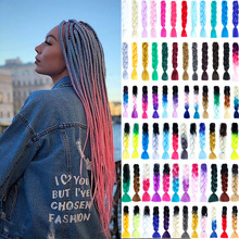 """DIANQI 24 """"Synthetic hair ombre braids box braid hair extension braid a variety of colors are available braids for women"""