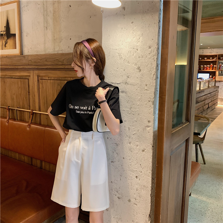 Hc9b502c47a524bc0a193d8299af84b099 - Summer High Waist Wide Leg Loose Solid Shorts