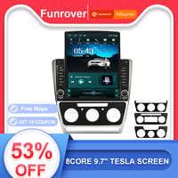 Funrover 9.7 Tesla schermo Android9.0 car multimedia Player radio navi gps Per Skoda Octavia 2008-2013 A5 IPS rds 8core no dvd