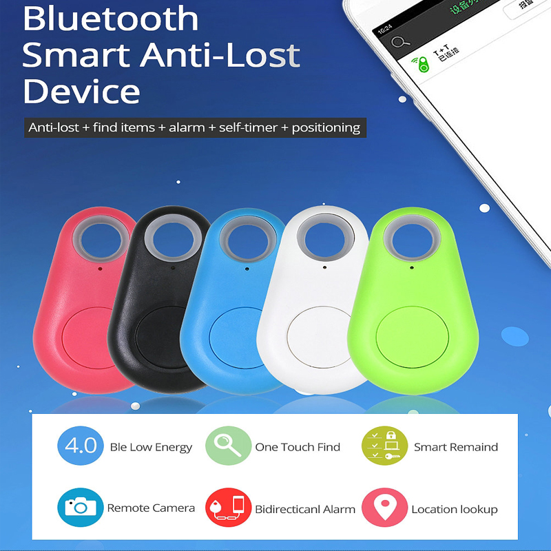 Wireless Bluetooth Tracker Anti-lost Alarm Smart Tag Child Bag Wallet Key Finder GPS Locator With Free Mobile APP Monitoring