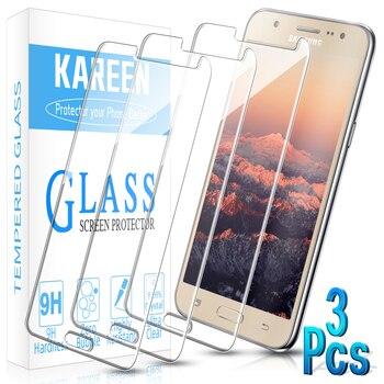 Защита для экрана из закаленного стекла для Samsung Galaxy J7 J5 J3 J2 A7 A3 A5 A3 2018 2016 2015 2017 защитная пленка на экран с высоким разрешением, комплект из 3 предметов