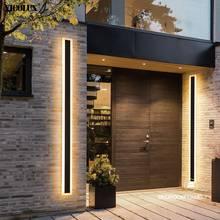 Luces LED de pared modernas para exteriores, impermeables, con mando a distancia, para sala de estar, dormitorio, pasillo, porche, iluminación negra, regulable