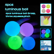 4 pçs parede luminosa alvo bola otário pegajoso 1pc bonito dos desenhos animados dinossauro squeezy brinquedos 1pc colorido vírus-forma tpr squeeze bolas