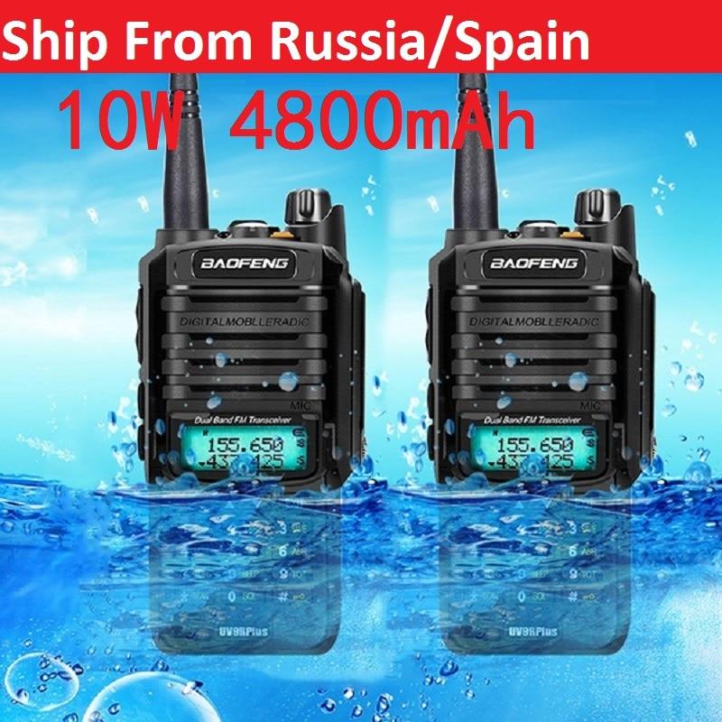 Из 2 предметов, Высокое качество 10 Вт 25 км Baofeng UV-9R плюс радиолюбителей cb радио comunicador водонепроницаемый портативная рация baofeng uv 9r плюс рация