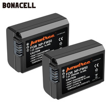 Bonacell 2000mah NP FW50 NP FW50 البطارية AKKU لسوني NEX 7 NEX 5N NEX 5R NEX F3 NEX 3D ألفا a5000 a6000 DSC RX10 ألفا 7 a7II