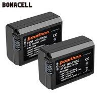 Bonacell 2000mah NP FW50 NP FW50 akumulator AKKU dla Sony NEX 7 NEX 5N NEX 5R NEX F3 NEX 3D alfa a5000 a6000 DSC RX10 Alpha 7 a7II w Baterie cyfrowe od Elektronika użytkowa na