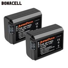 Bonacell batería AKKU NP FW50 NP FW50 para Sony NEX 7, NEX 5N, NEX 5R, NEX F3, Alpha, a5000, a6000, NEX 3D, Alpha 7, a7II, 2000mah