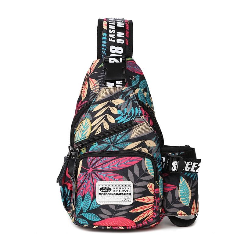 Men Chest Pack Leisure Travel Sling Bag Brand Oxford Shoulder Chest Crossbody Sling Bag Pack For Men Women Girls Boys