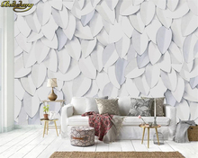 beibehang Custom wall paper mural modern 3d embossed leaves hand painted leaves TV background wall papel de parede 3d wallpaper beibehang papel de parede european style hand painted rainforest creek banana leaves mural background wall 3d wallpaper mural
