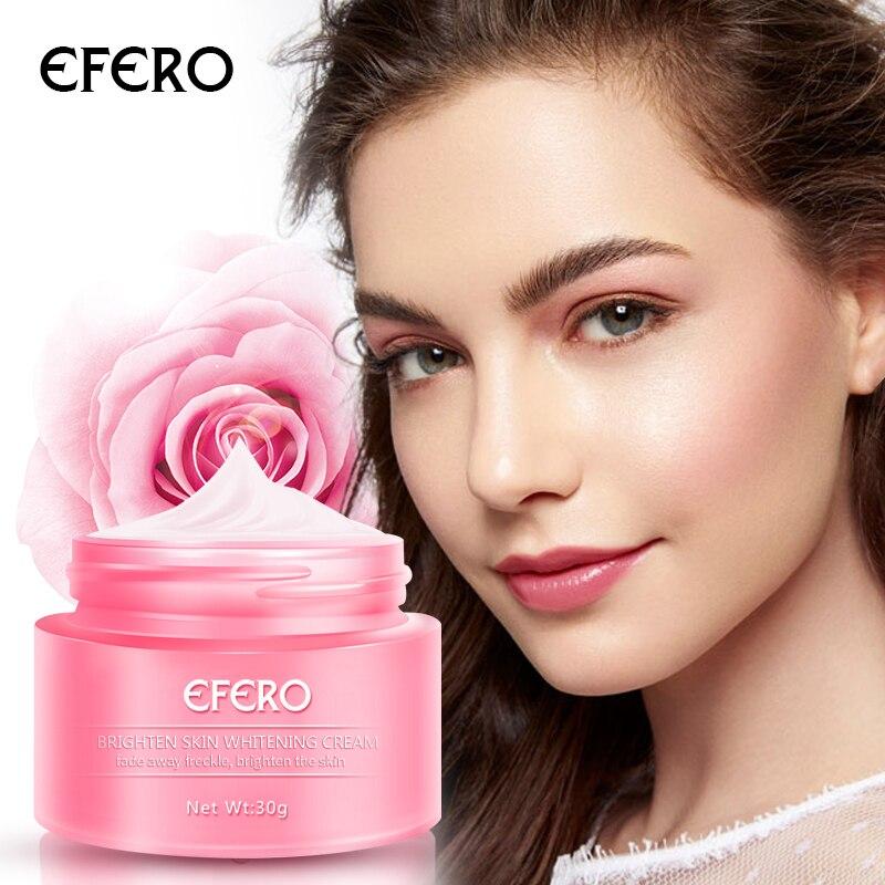 EFERO Face Whitening Cream Freckle Removal Cream Melanin Dark Spot Acne Treatment Moisturizing Cream Repair Freckle Face Serum