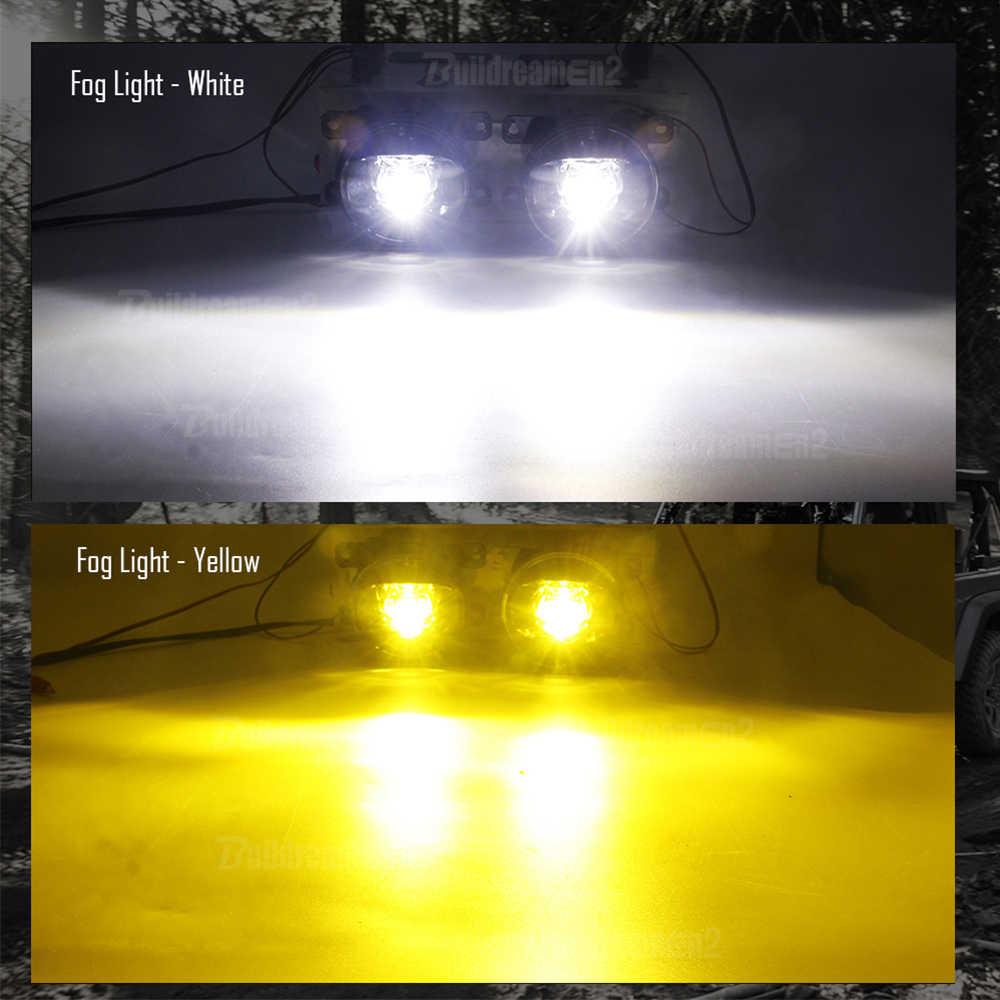 2 X LED ערפל אור 8000LM 30W רכב ערפל מנורת לבן צהוב 12V עבור סיטרואן C-crosser עצבני קסארה ברלינגו DS3 DS4 DS5 C1 C3 C4 C5 C6