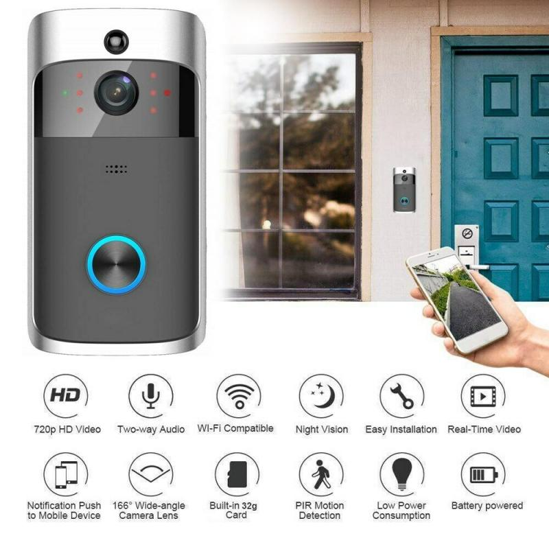 Smart Wireless Doorbell Camera Wifi Wireless Call Intercom Video-Eye For Apartments Door Bell Ring For Phone Home Security Camer