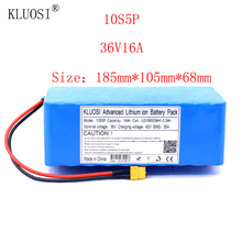 KLUOSI 36V 10S5P 16Ah 1200W High Power&capacity Li-ion Battery Pack for Electric Car Bicycle Motor Scooter 35A Balanced BMS kluosi 36v 10s7p 22 4ah 1200w high power capacity li ion battery pack for electric car bicycle motor scooter 35a balanced bms
