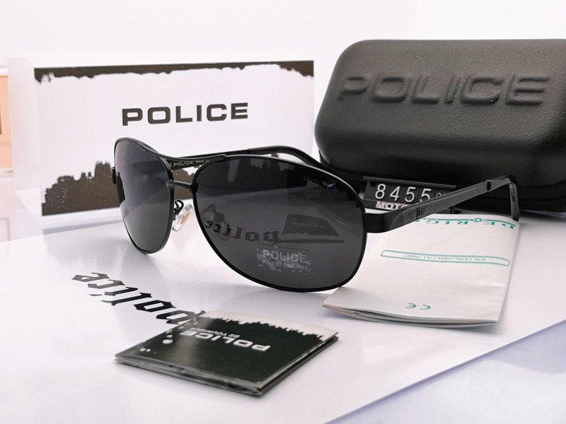 POLICE Men Sunglasses 2019 Polarized Sunglasses Cobra Skin Design Retro Sun glasses Outdoor Driving Travel Fishing Glasses UV400