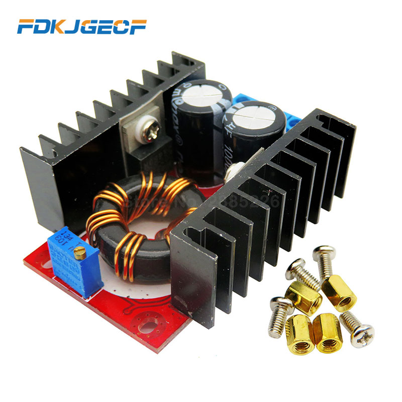 <font><b>DC</b></font> <font><b>DC</b></font> Boost Converter Voltage Regulator CC CV <font><b>DC</b></font>-<font><b>DC</b></font> Step Up 10-<font><b>30V</b></font> to <font><b>12</b></font>-35V 150W 10A Power Supply Driver Charger Adjustable DIY image