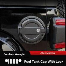Qhcp Gas Tank Cover Tankdop Met Sleutel Slot Geen Slot Filler Deur Stickers Protector Aluminium Legering Voor Jeep Wrangler jl 2018 2019