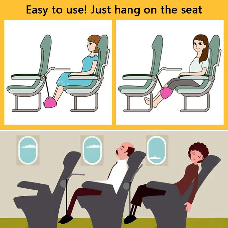 Flight Car Travel Essential Aviation Seat Foot Pad Adjustable Train Airplane Foot Rest Feet Hammock Portable Travel Accessories