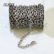 5 meters Link Chain necklace link necklace Ancient silver bulk accessories high quality can keep color  50059