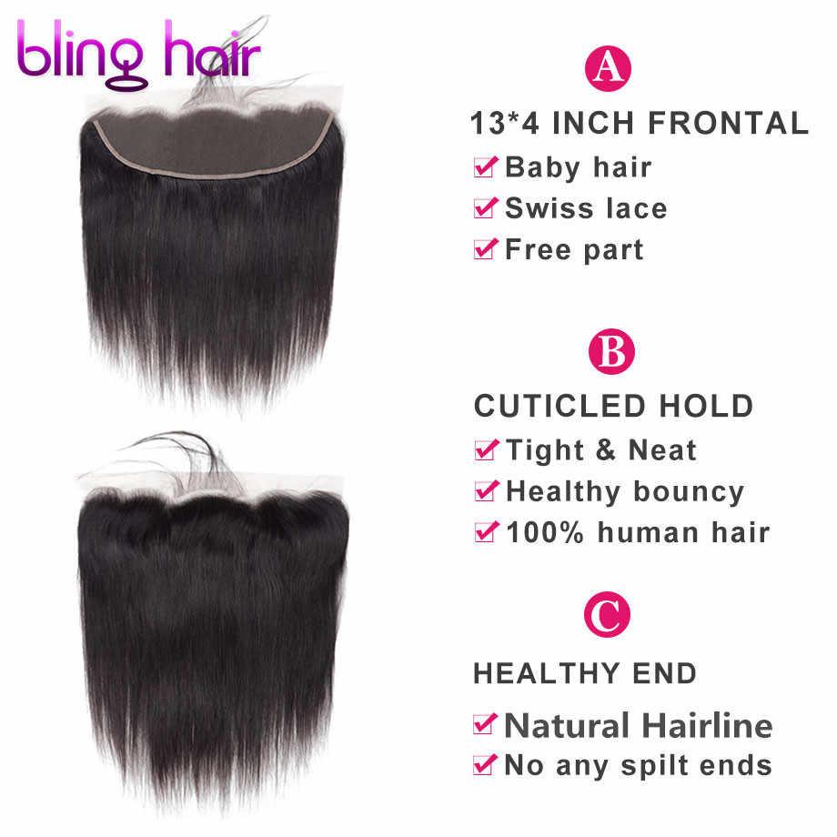 Шикарные волосы перуанский прямые парики из натуральных волос на кружевной закрытием 13x4 Средняя/Бесплатная/три части швейцарские кружева 100% Remy пряди натуральных волос