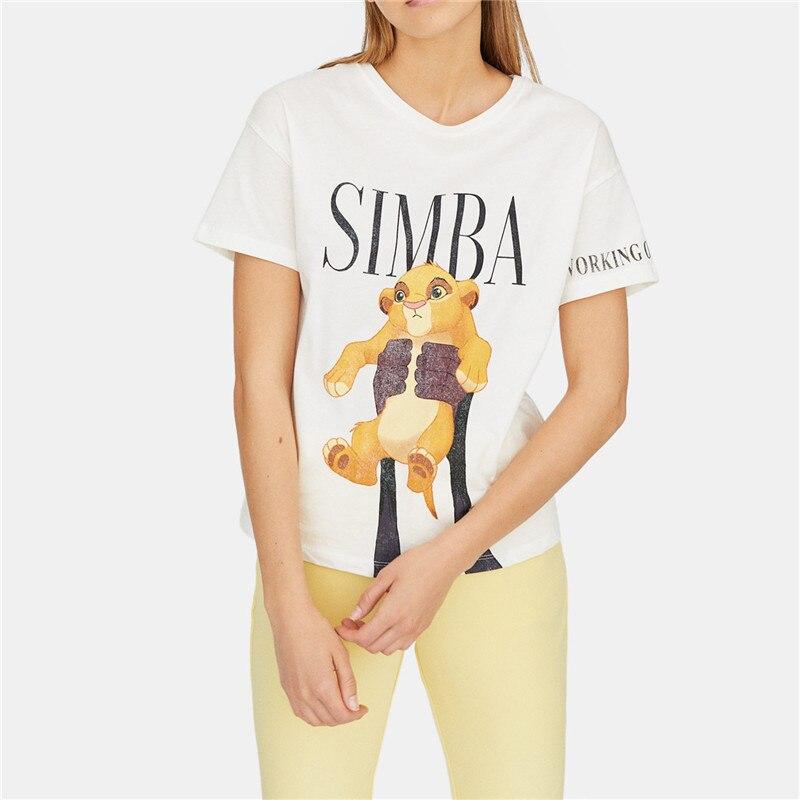 Mulheres-marca-de-moda-T-shirt-Pequeno-Simba-Rei-Le-o-T-shirt-de-Impress-o (1)